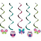 5-Count Dizzy Danglers Hanging Party Decorations, Owl Pal