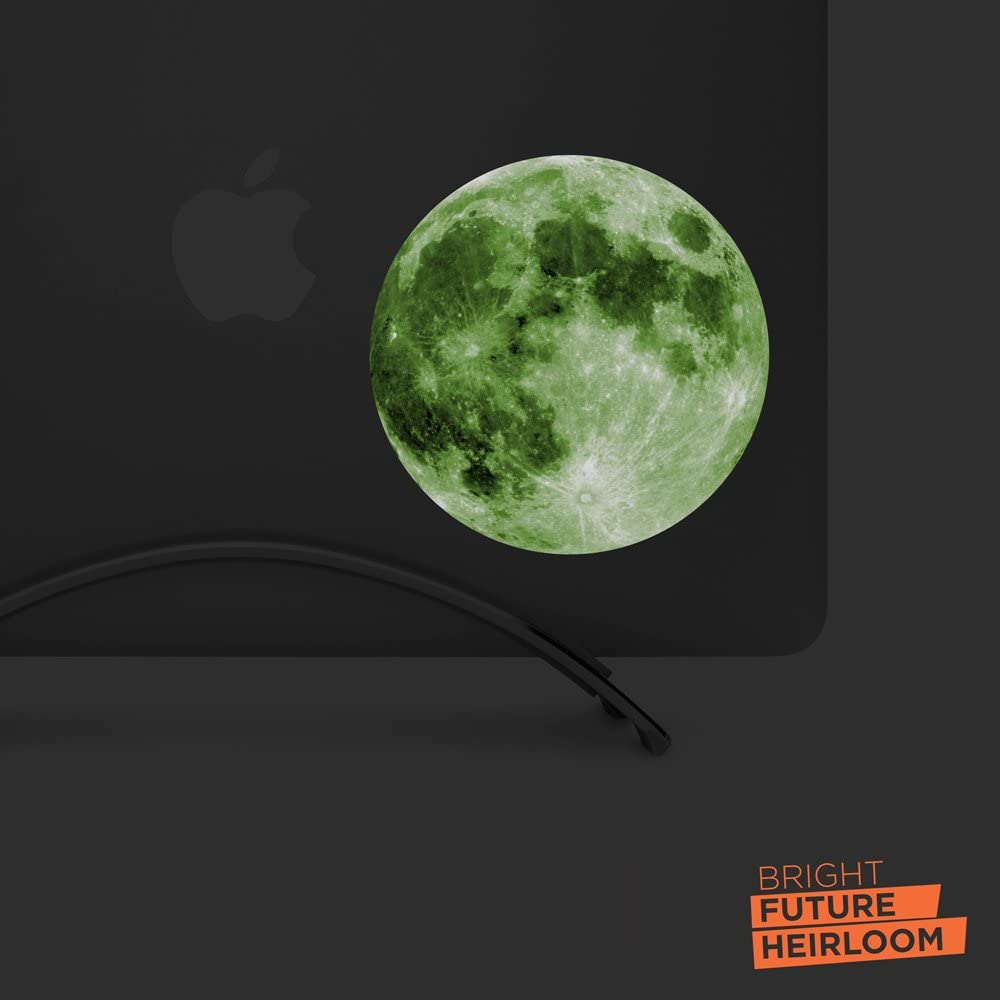 """Full Moon - 5"""" printed GLOW IN THE DARK vinyl decal sticker - For MacBook, laptops, tablets, and more!"""