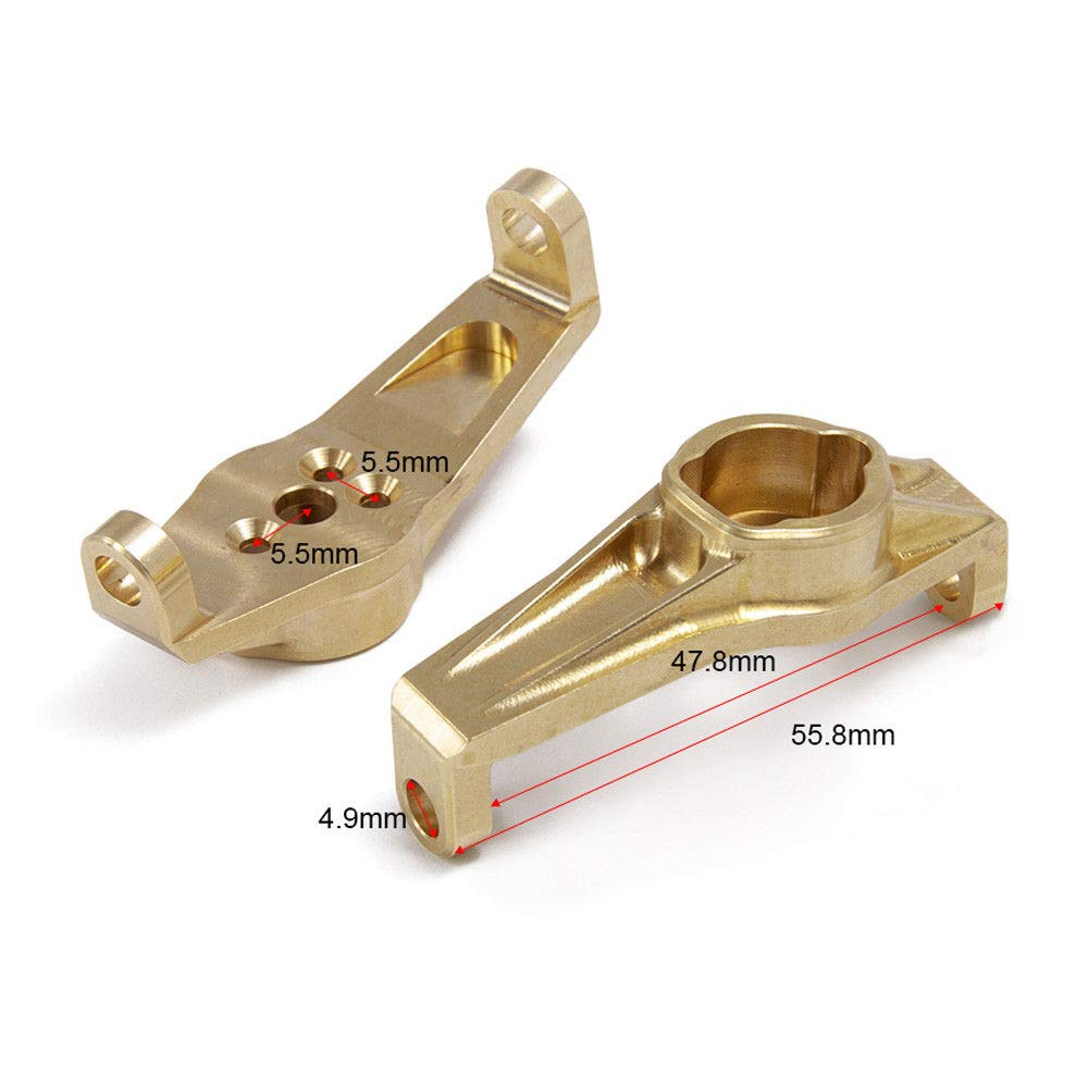 1Pair Brass Front C-Hub Carrier 68g Upgrade for Traxxas TRX-4 1//10 RC Crawler