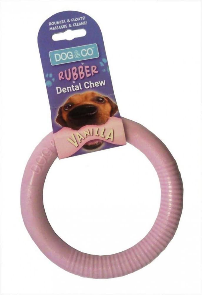 Dog & Co Rubber Dental Chew Ring Dog Toy Pink Large: Amazon