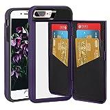 NOKEA Mirror Case for Apple iPhone 8 Plus, Wallet Style Case Design