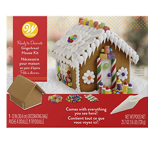 - Wilton Ready-to-Decorate Gingerbread House Decorating Kit