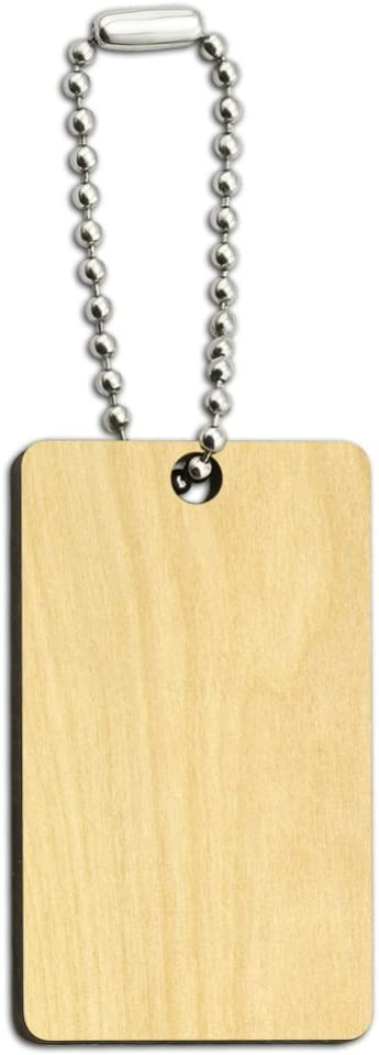 LSU Wordmark with Jersey Stripes Wood Wooden Rectangle Keychain Key Ring