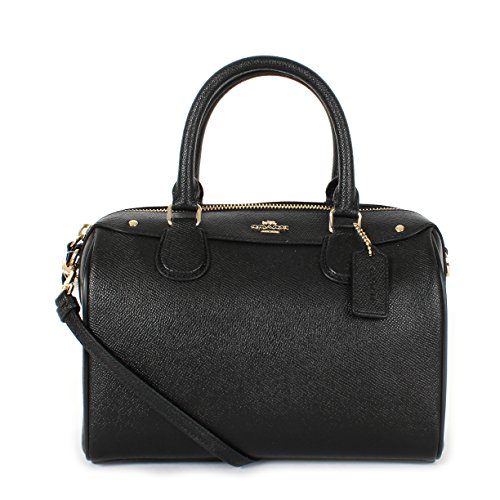 Coach Crossgrain Leather Mini Bennett Crossbody Satchel F57521 Black by Coach