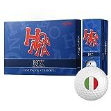 Honma NX Personalized National Flag Logo Golf Balls Italy 1 Dozen White