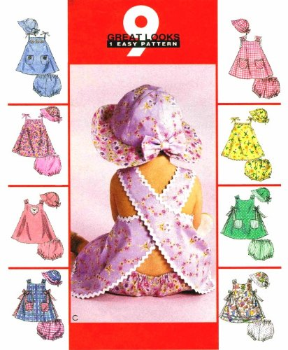 McCall's 2213 Sewing Pattern Infants Dress Panties & Hat Size S - (Forming Cross Pattern)