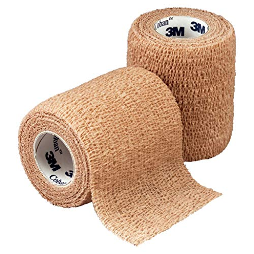 3M Health Care 1582 Self-Adherent Wrap, 2″ x 5 yd. Size, Tan (Pack of 36)
