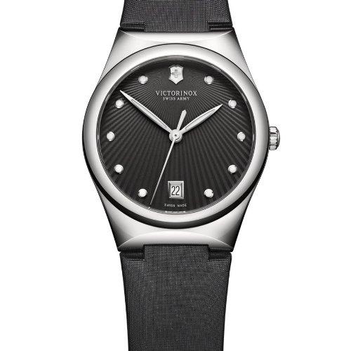 Victorinox Swiss Military Victoria Anthracite Dial Black Nylon Ladies Watch 241632