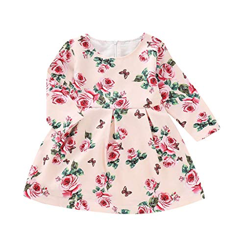 Dolls Mommy Little Twin (Toddler Infant Baby Girls Long Sleeve Flora Dresses Kids Party Dresses Princess Casual Summer Dress by)