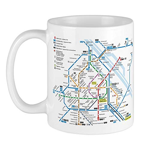 CafePress Vienna Metro Map Mug Unique Coffee Mug, Coffee Cup