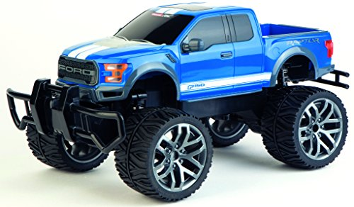 Carrera 142026 RC Officially Licensed Ford F-150 Raptor Remote Control Vehicle with 2.4 Ghz Controller, Blue, 1: 14 Scale (Ford F 150 Remote Control)