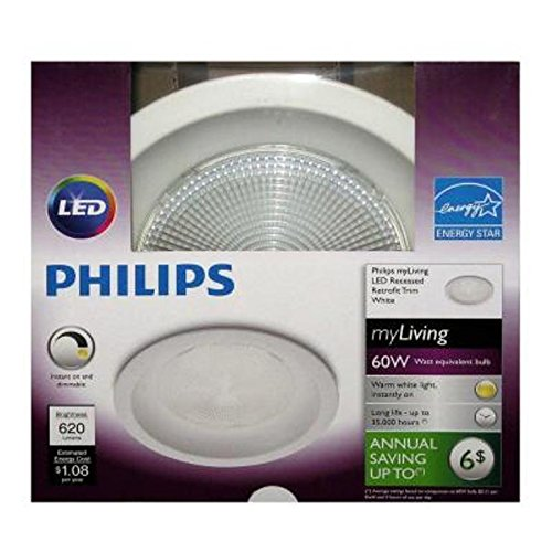 Philips 798801 65 Watt Equivalent Recessed Retrofit LED Downlight, White