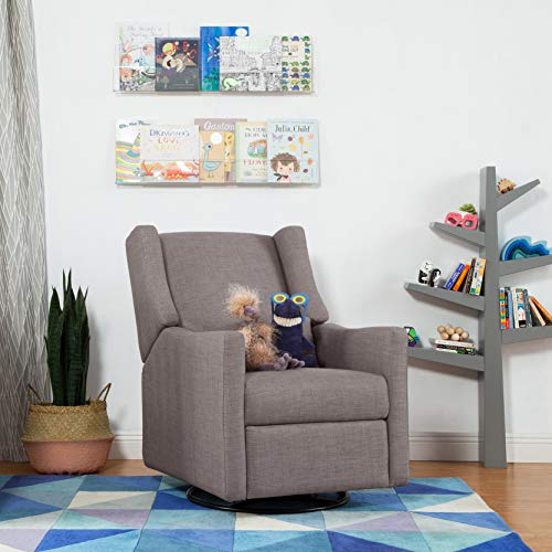 51LIetybdBL - Babyletto Kiwi Electronic Power Recliner And Swivel Glider With USB Port In Grey Tweed, Greenguard Gold Certified