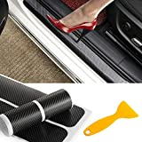 PAMISO 4pcs Car Door Sill Scuff Guard - Welcome Pedal Protect - Anti-kick Scratch for Cars Doors