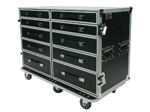 (OSP Cases | Pro-Work-SXS | Side-By-Side 10-Drawer Utility Case | Free-Standing Lid)