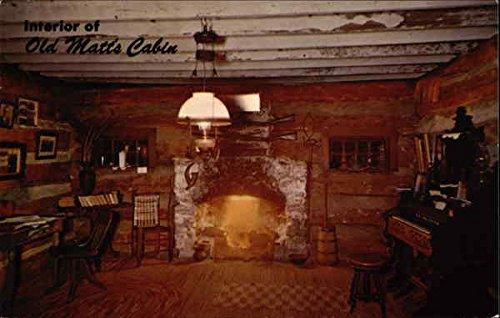 Interior of Old Matt's Cabin Branson, Missouri Original Vintage Postcard ()