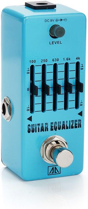 AA AEG de 5 guitarras Ecualizador Mini Efectos de Guitarra Pedal de Efectos Sonómetro regulación para guitarra bass – Ligh twish: Amazon.es: Instrumentos musicales