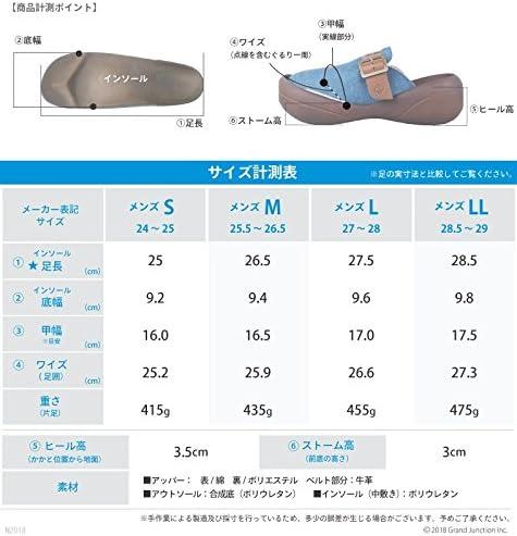 リゲッタ カヌー メンズ サボ サンダル デニム ベルト ビッグフット 日本製 LVW360 CJBF5192