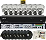 CIB 16CH 1080P HD Video Security DVR, 2TB HDD & 8x2.1-MP 1080P 1920TVL Night Vision Camera, Indoor Outdoor Metal Case (H80P16K2T03W-8KIT)