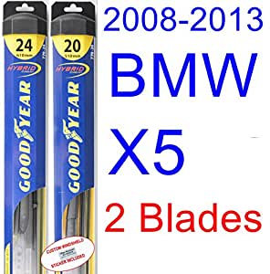 2008 – 2013 Bmw X5 hoja de limpiaparabrisas de repuesto Set/Kit (Goodyear limpiaparabrisas