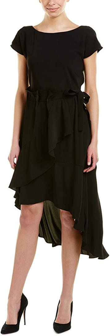 Laundry by Shelli Segal Women's Crepe Dress with Asymmetrical Hi-Low Hem