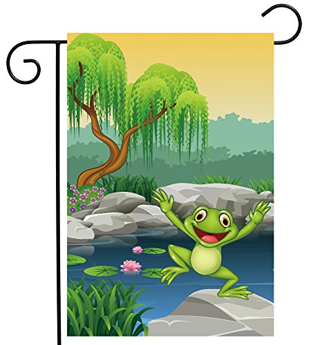 ShineSnow Spring Animal Frog Lotus Flower Tree Garden Yard Flag 12