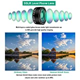 Phone Camera Lens Kit,9 in 1 Kaiess Super Wide Angle+ Macro+ Fisheye Lens +Telephoto+ CPL+Kaleidoscope+Starburst Lens for iPhone X/8/7/6s/6 Plus, Samsung,Android Smartphones