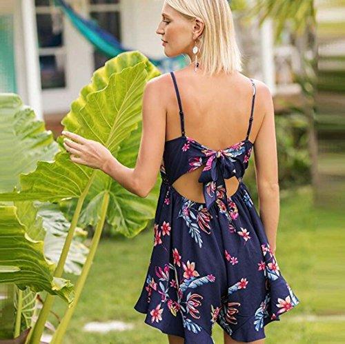 WOME Taille dcontract Harnais L Bleu Vacances et Sexy de Couleur t Pantalon XIAOXAIO 2018Spring Combinaison wCzAqfWT