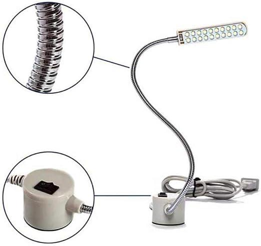 Lámpara de mesa de la lámpara de la máquina de coser del imán con ...