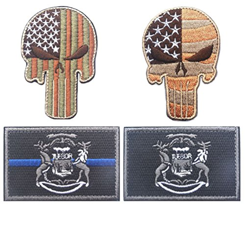 GAN State Flag and Punisher Tactical patches (3