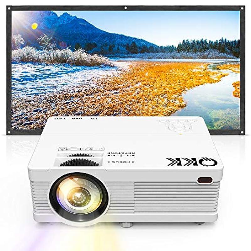 QKK 프로젝터 2800lm PC/《스마호》/타블렛/게임 플레이어 접속가 USB×2/SD/HDMI/AV/VGA대응
