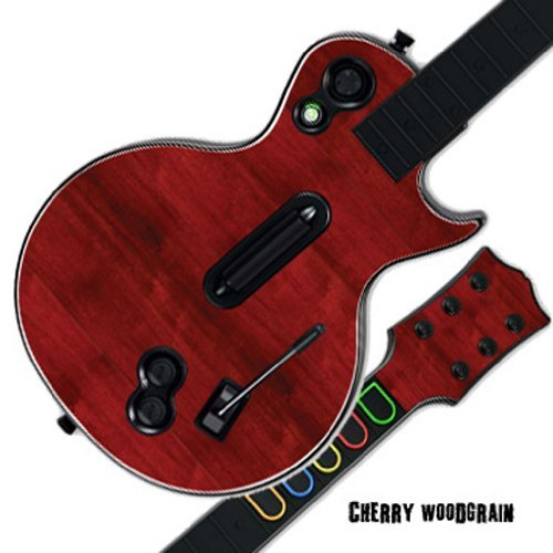 Mightyskins Protective Skin Decal Cover Sticker Compatible with Guitar Hero 3 III PS3 Xbox 360 Les Paul - Cherry Woodgrain ()