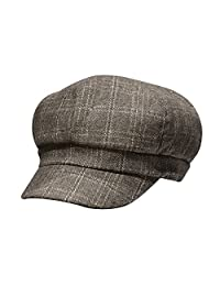 Luxspire Women's Retro Plaid Octagonal Cap Winter Beret Newsboy Hat