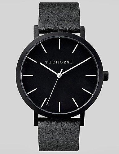 PEISHI J - Reloj unisex movimiento de cuarzo japaneze de piel Resistente al agua 3 ATM Reloj para hombres famosos mujeres, color marrón: Amazon.es: Relojes