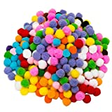 Elisona-2000 PCS Colorful DIY Pompoms for Childern Craft Making Hobby Supplies Decoration 1cm Diameter Mixed Color