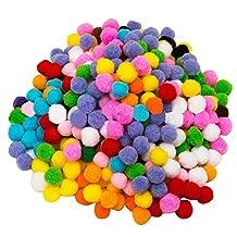 Elisona-2000 PCS Colorful DIY Pompoms for Childern Craft Making Hobby Supplies Decoration 1cm Diameter Mixed Color