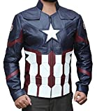 BlingSoul Galaxy Star Lord America Favorite Captain Jacket (L, Civil War Jacket (Red & Blue))