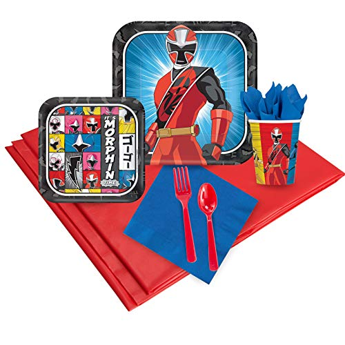 BirthdayExpress Power Rangers Ninja Steel 24 Guest Party Pack ()