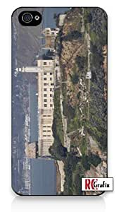 Alcatraz Island Prison San Francisco California iPhone 4 Quality Hard Snap On Case for iPhone 4 4S 4G - AT&T Sprint Verizon - Black Frame