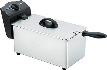 Bastilipo FE-2000 Freidora, 2000 W, 3 litros, Acero Inoxidable, Negro/Gris