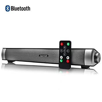 Sound Bar Wired and Wireless Connection 3D Surround Sound Speaker Bar  Bluetooth Home Theater Silver with 2 0 Channel Remote Control Dual  Connection