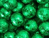 Green Foiled Milk Chocolate Balls 5LB Bag by The Nutty Fruit House