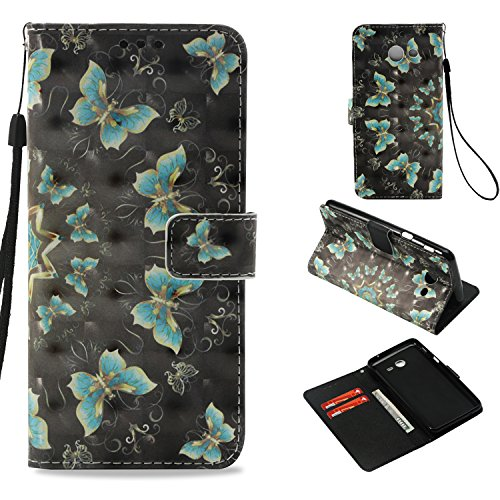 (Galaxy J3 Emerge Case,Galaxy J3 Eclipse Case,J3 Prime Case,J3 Mission Case,Galaxy Express Prime 2 Case, Dooge 3D Painted Folio Kickstand Wallet Case with ID & Credit Card Holder for J3 2017 )