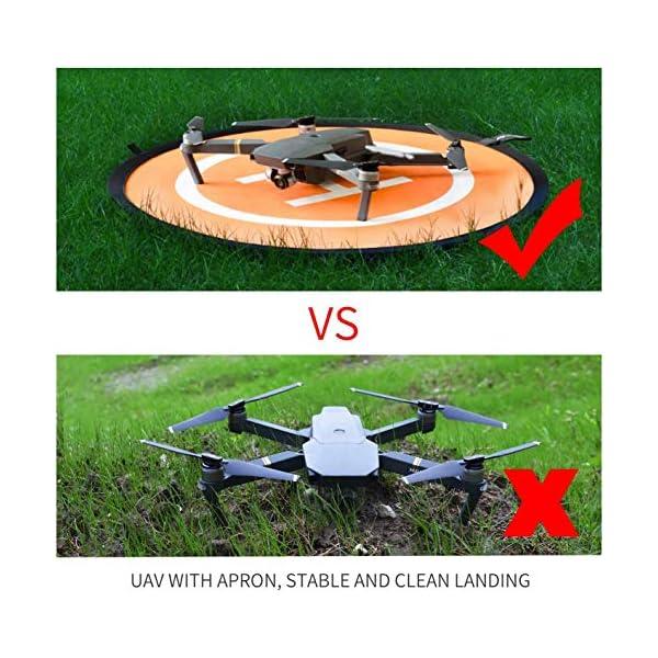 CaLeQi Drone Landing Pad Universale Impermeabile Portatile Pieghevole Landing Pad 55cm/21.65 ''per RC Drone Elicottero, PVB Droni, DJI Mavic PRO Phantom 2/3/4 PRO, Antel Robot, 3DR Solo 5 spesavip