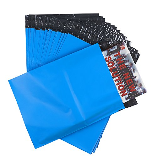Open Poly Envelope (Metronic 100 Pcs Poly Mailers 9x12 Envelopes Blue Shipping Bags Easy Open with Self Adhesive and Tear Strip, Waterproof and Tear-proof Postal Bags Light Blue)