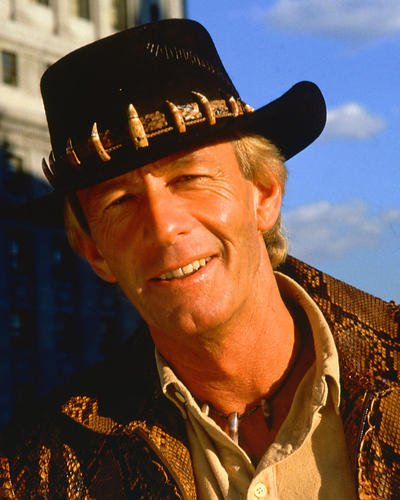 Crocodile Dundee Paul Hogan classic in hat 8x10 Promotional Photograph