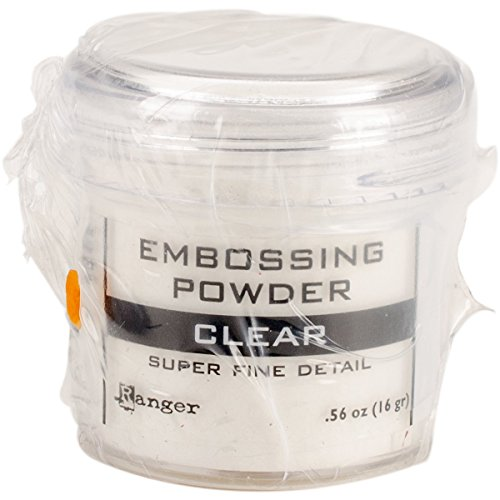 (Ranger Embossing Powder, 0.56 Ounce Jar, Super Fine Clear)