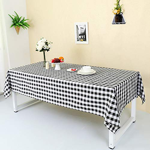 (Zdada 60 x 84 Inch (150x210cm) Black and White Check Tablecloth Party Picnic Plaid Table Cover Home/Outdoor Use Decoration)