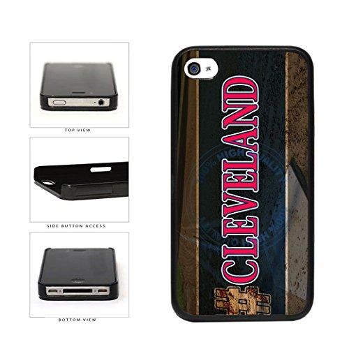 BleuReign(TM) Hashtag Cleveland #Cleveland Baseball Team Plastic Phone Case Back Cover For Apple iPhone 4 4s (Cleveland Indians Iphone 4s Case)