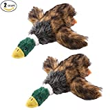 #8: Running Pet 2 Pcs Pet Dog Toy Puppy Dog Chew Toy with Cartoon Plush Squeaking Duck Style for Small Medium Dog or Cat